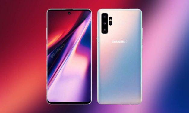 Confirmado, así será el diseño del Samsung Galaxy Note 10 y Note 10 Pro