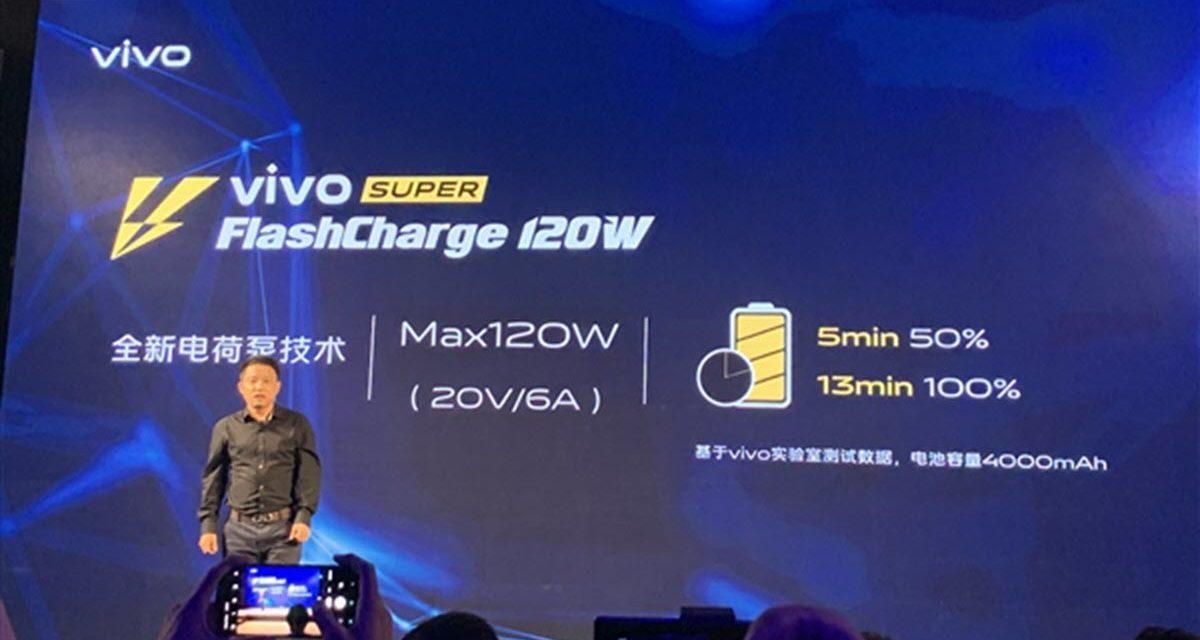 La carga de Vivo Super FlashCharge de 120W es oficial: 50% en 5 minutos