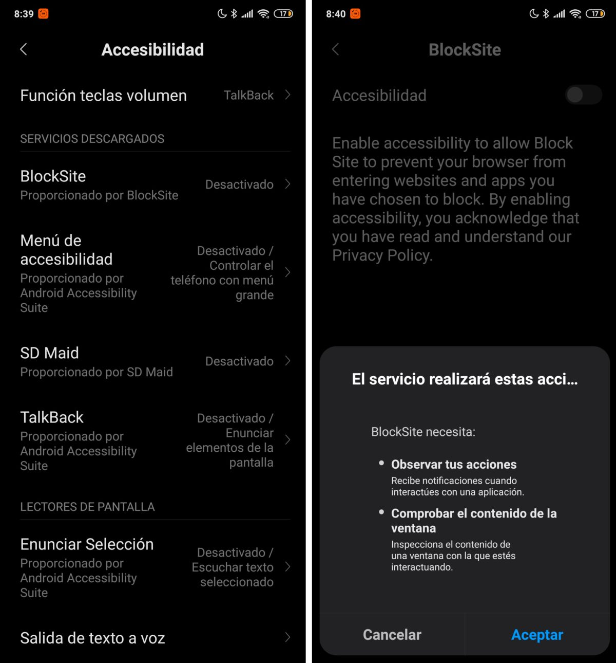 accesibilidad android