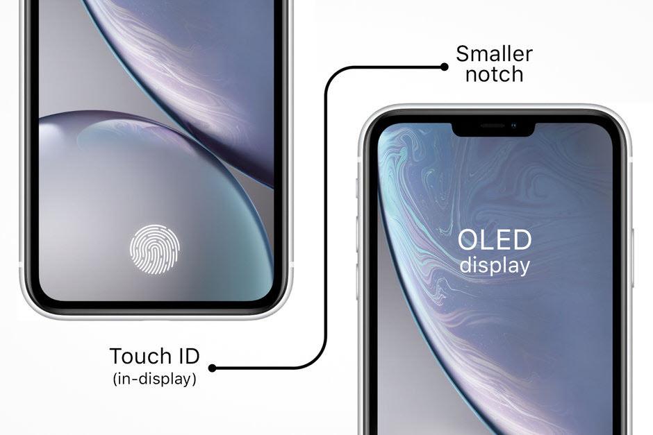 iPhone con huella digitial