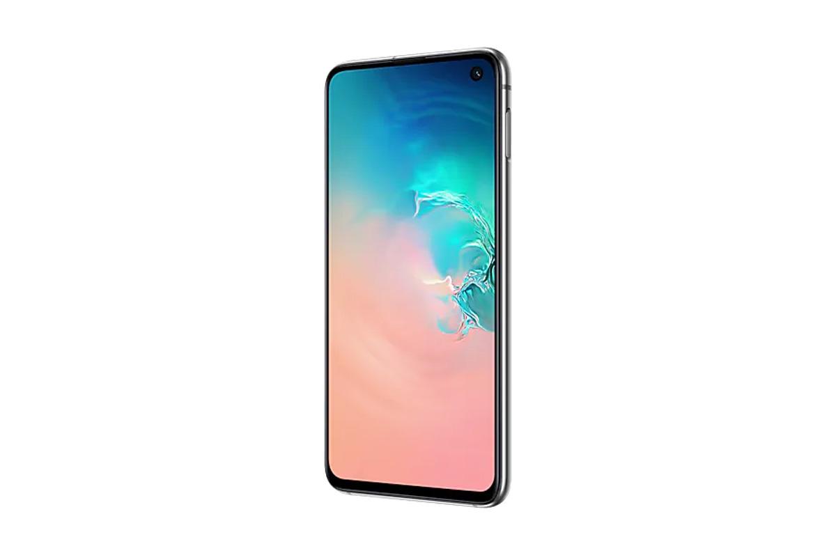 nuevo color Samsung Galaxy S10e plata lateral
