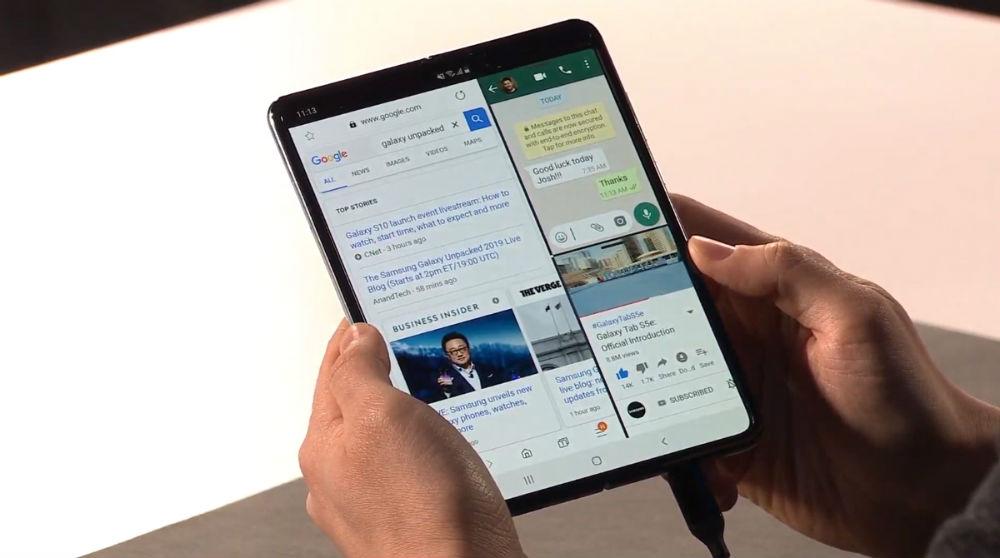 Amazon, Facebook y Twitter serán compatibles con el Samsung Galaxy Fold