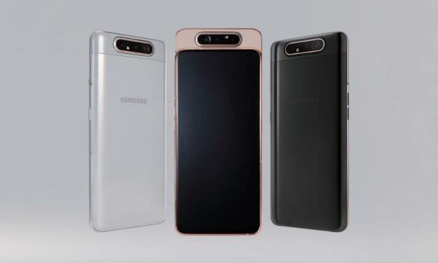 Samsung añade mejoras a la cámara rotatoria del Galaxy A80