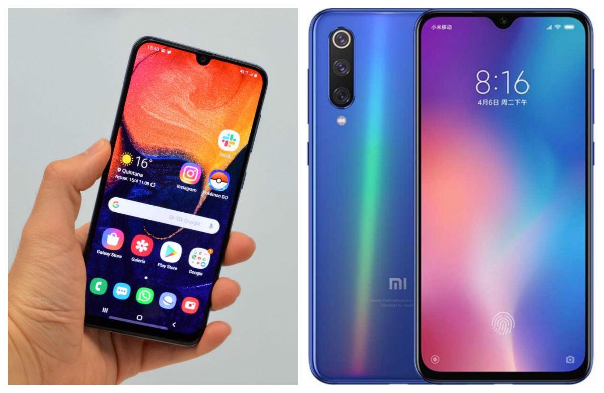 Comparativa Samsung Galaxy A50 vs Xiaomi Mi 9 SE