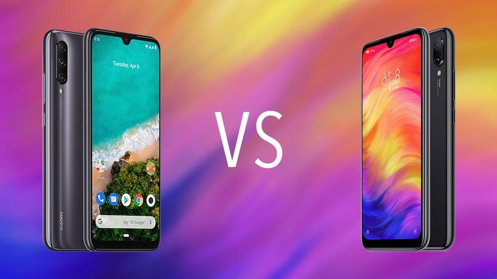 Comparativa Xiaomi Redmi Note 7 vs Xiaomi Mi A3