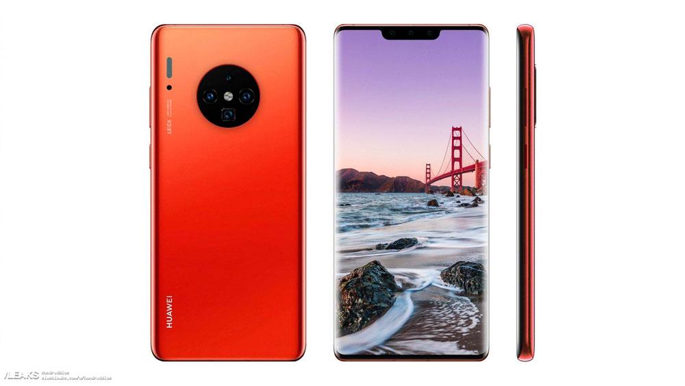 Así sería el diseño del Huawei Mate 30 Pro en base a las filtraciones