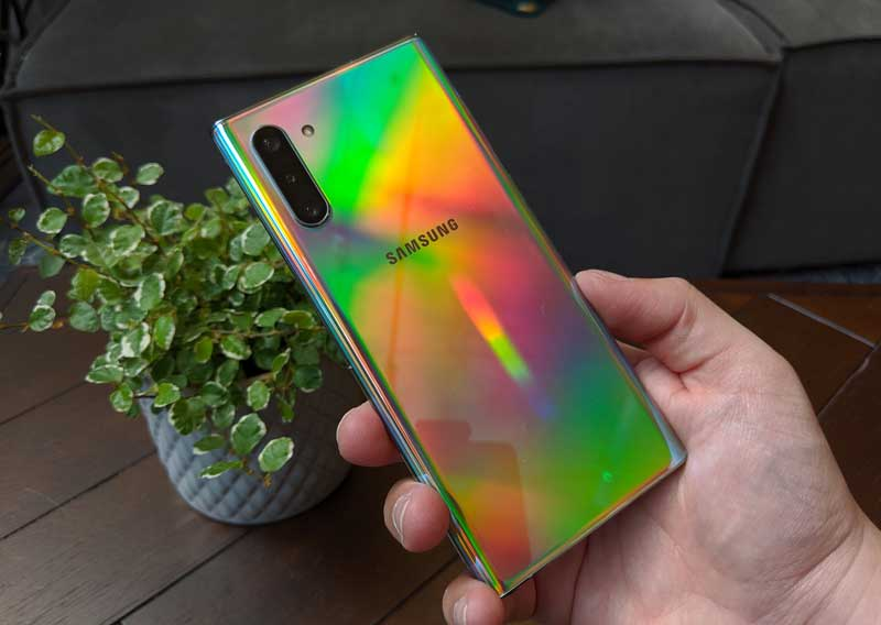 lanzamiento Samsung Galaxy Note 10 trasera