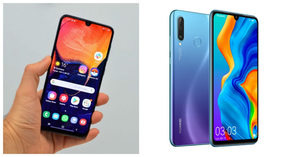 Comparativa Samsung Galaxy A50 vs Huawei P30 Lite