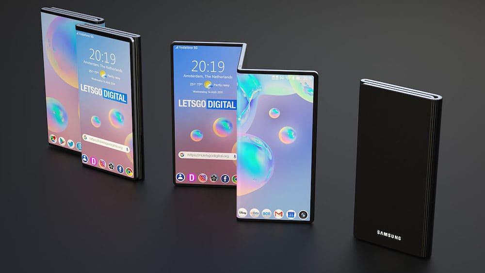 Samsung patenta un nuevo móvil plegable con doble pliegue