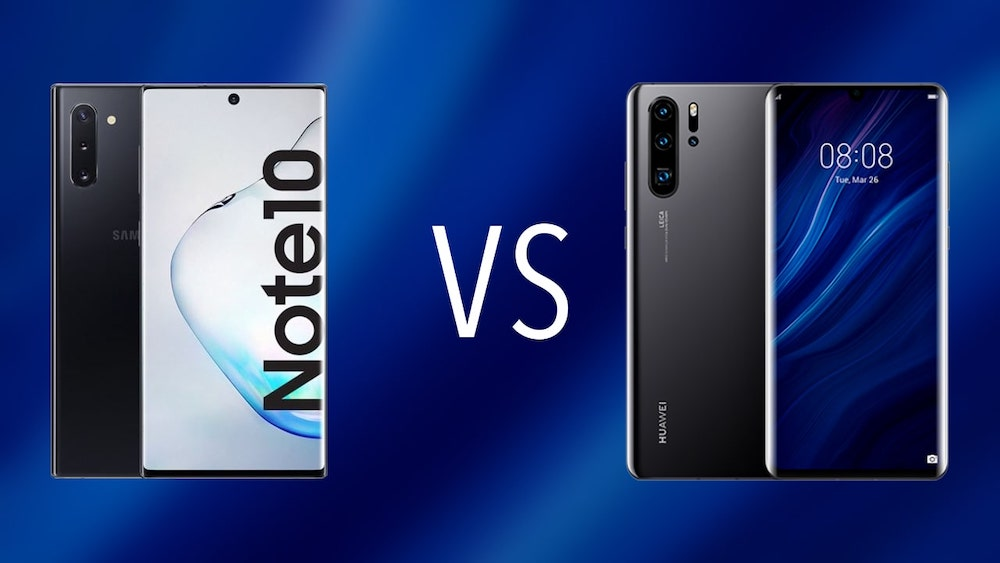 Comparativa Samsung Galaxy Note 10 vs Huawei P30 Pro