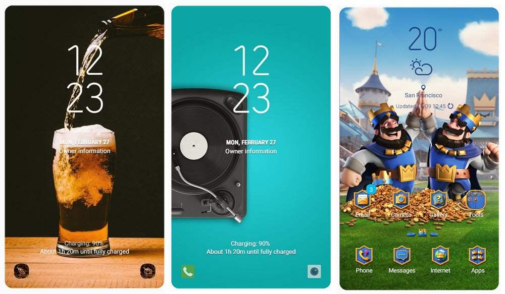 Los 40 mejores temas de Samsung Themes para móviles Samsung Galaxy 7