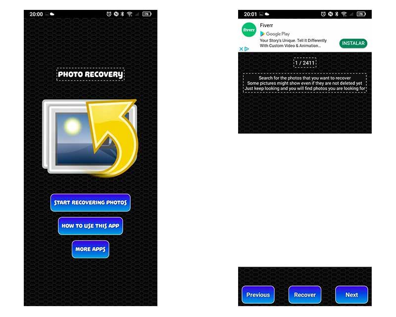 cómo recuperar fotos borradas en tu móvil Android Photo Recovery