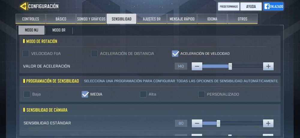 controles call of duty mobile