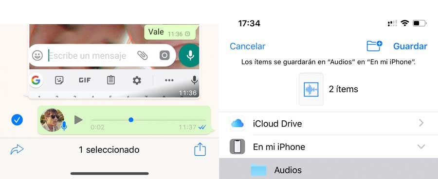 Cómo descargar audios de WhatsApp en MP3 en iPhone 1