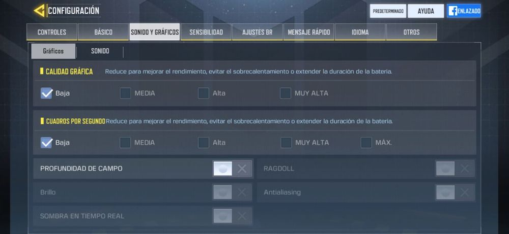 mejorar rendimiento call of duty mobile fps android 2