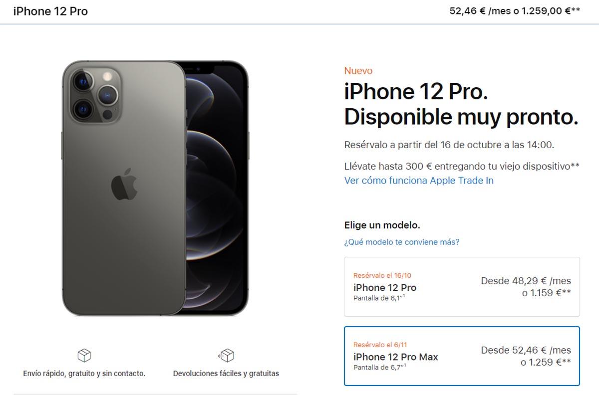 Prezzo iPhone 12 Pro